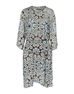 Короткое платье MILA SCHÖN CONCEPT. Цвет: светло-серый