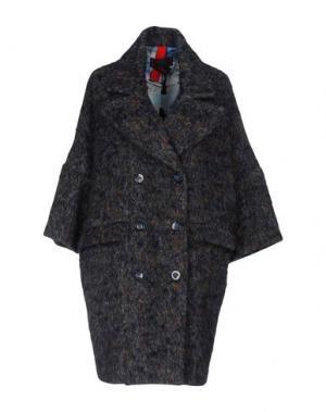 Пальто FEMME by MICHELE ROSSI. Цвет: темно-синий
