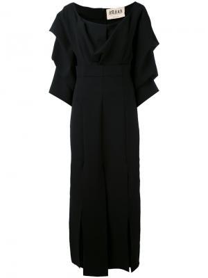 Платье с драпировкой A.W.A.K.E.. Цвет: чёрный