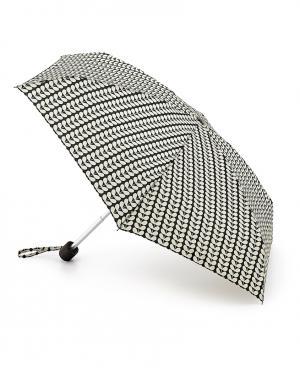 Зонт механический Листья черные  by Fulton Orla Kiely. Цвет: черный
