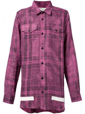 Клетчатая рубашка свободного кроя Off-White. Цвет: розовый и фиолетовый