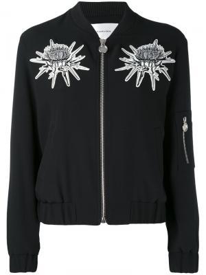Floral detail bomber jacket Carven. Цвет: чёрный