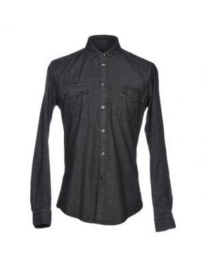 Джинсовая рубашка BRIAN DALES. Цвет: стальной серый