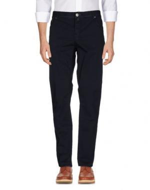 Повседневные брюки LUIGI BORRELLI NAPOLI. Цвет: темно-синий