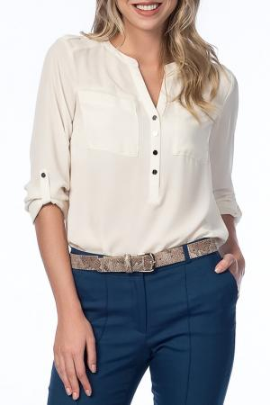 Блузка NARAMAXX. Цвет: белый