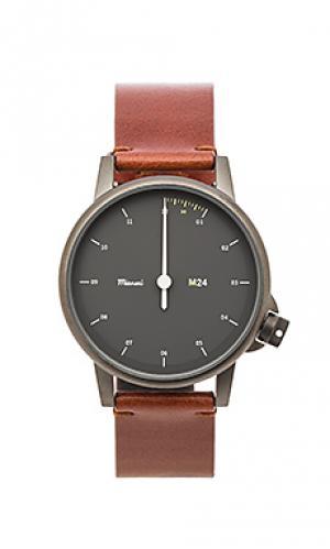 Часы noir Miansai. Цвет: коньячный