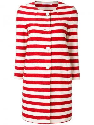 Striped coat Tagliatore. Цвет: красный