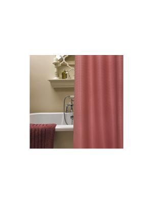 Штора для ванной комнаты 178х180см  розовая,полиэстер NIKLEN. Цвет: розовый