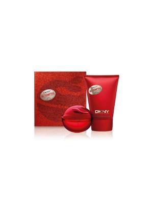 Подарочный набор парфюмированная вода 30 мл и лосьон для тела  100 Be tempted holiday DKNY. Цвет: красный