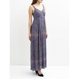 Платье длинное без рукавов, с плиссированным эффектом  VILUKKAL MAXI DRESS VILA. Цвет: сине-серый