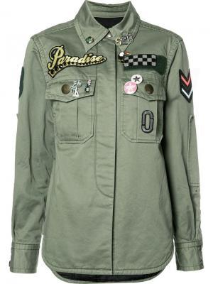 Рубашка с заплатками в стиле милитари Marc Jacobs. Цвет: зелёный