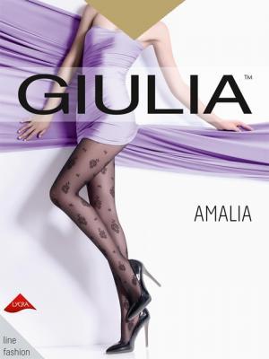 Фантазийные колготки AMALIA 02, 2 пары (20 ден) Giulia. Цвет: светло-коричневый