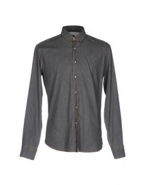 Джинсовая рубашка BAGUTTA. Цвет: серый