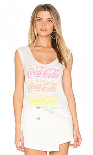 Майка coca cola Junk Food. Цвет: белый