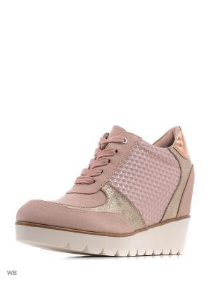 Сникеры Tamaris. Цвет: розовый