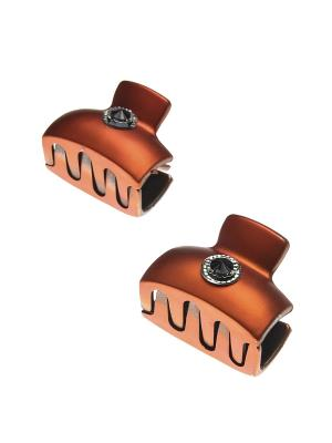 Заколка-краб (2 шт.) Happy Charms Family. Цвет: оранжевый, черный