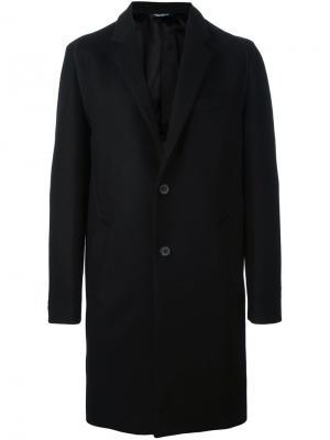 Однобортное пальто Wooyoungmi. Цвет: чёрный
