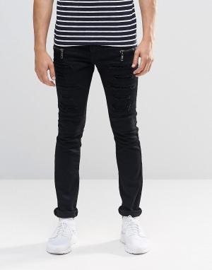 Loyalty & Faith Черные джинсы с молниями. Цвет: черный