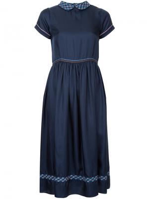 Платье с присборенной талией Jupe By Jackie. Цвет: синий