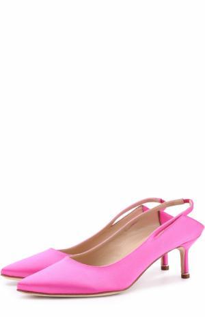 Атласные туфли  X Manolo Blahnik Vetements. Цвет: розовый