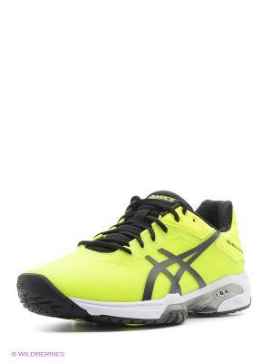 Спортивная обувь GEL-SOLUTION SPEED 3 ASICS. Цвет: желтый, белый, черный