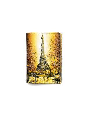 Обложка для паспорта Та самая башня TonyFox. Цвет: желтый, оранжевый
