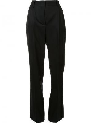 Классические брюки с завышенной талией Barbara Casasola. Цвет: чёрный