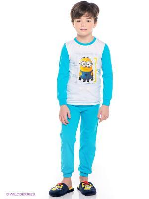 Пижама Миньоны Despicable Me, Minion Made. Цвет: бирюзовый, белый