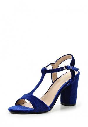 Босоножки Style Shoes. Цвет: синий