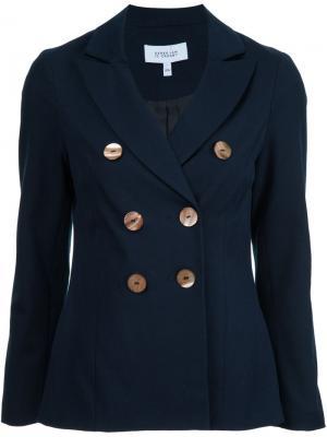 Двубортный пиджак Derek Lam 10 Crosby. Цвет: синий