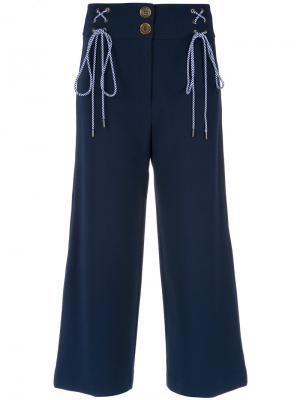 Lace up details culottes Nk. Цвет: синий
