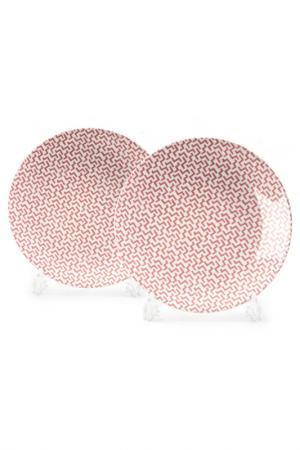Набор тарелок 27 см, 2 шт La Rose des Sables. Цвет: белый, розовый