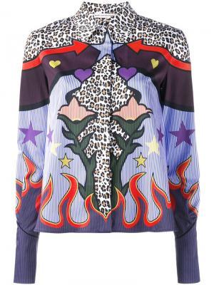 Рубашка с абстрактным принтом Mary Katrantzou. Цвет: многоцветный