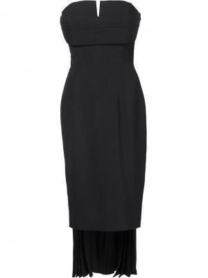Асимметричное платье Brandon Maxwell. Цвет: чёрный