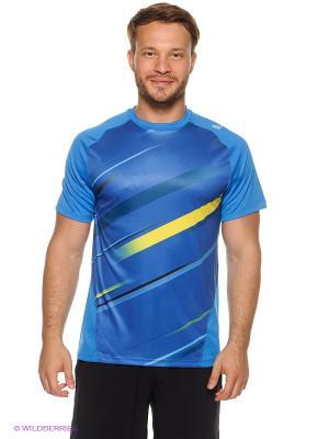 Футболка Wilson. Цвет: синий, голубой, желтый