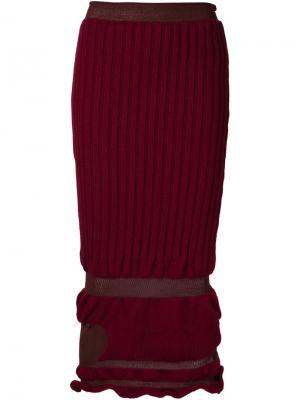 Трикотажная юбка Helen Lawrence. Цвет: красный
