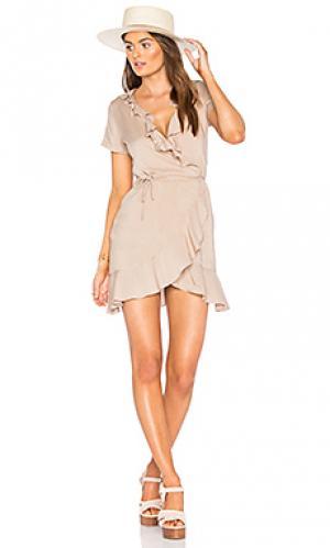 Платье selena De Lacy. Цвет: серо-коричневый