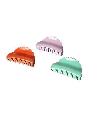 Заколка - краб (3 шт.) Migura. Цвет: сиреневый, оранжевый, зеленый