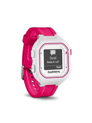 Часы для бега Forerunner 25, Small - White/Pink GARMIN. Цвет: белый