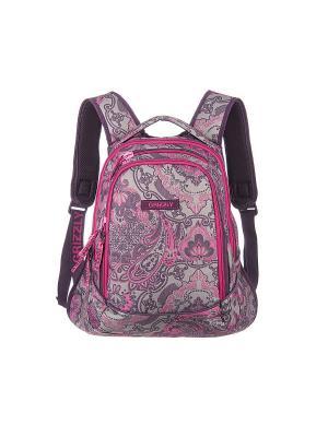 Рюкзак Grizzly. Цвет: розовый, серый, фиолетовый