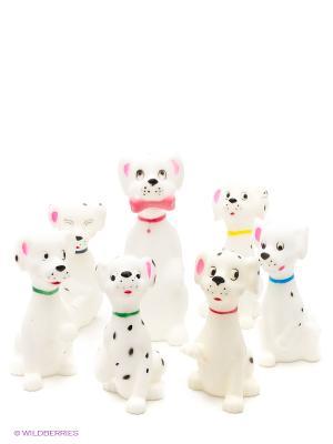 Набор собак-далматинов 7 шт. в пакете Globo. Цвет: белый