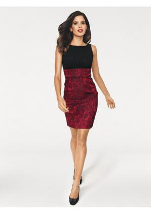 Коктейльное платье Ashley Brooke. Цвет: красный/черный