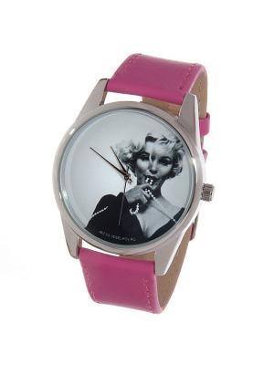 Часы Mitya Veselkov Монро с бусами. Цвет: фуксия