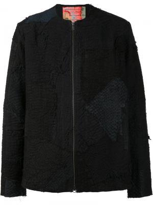 Куртка без воротника на молнии By Walid. Цвет: чёрный