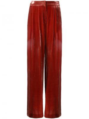 Бархатные брюки Viceroy Bianca Spender. Цвет: красный
