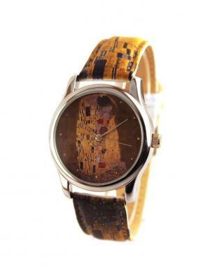 Дизайнерские часы Климт Tina Bolotina. Цвет: светло-коричневый, желтый