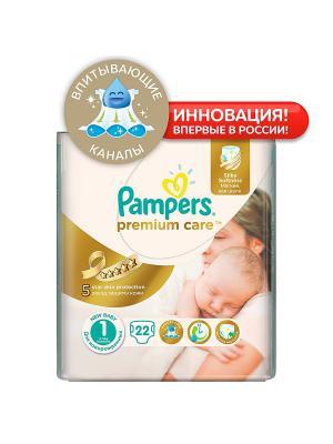 Подгузники Pampers Premium Care 2-5 кг, 1 размер, 22 шт. Цвет: белый