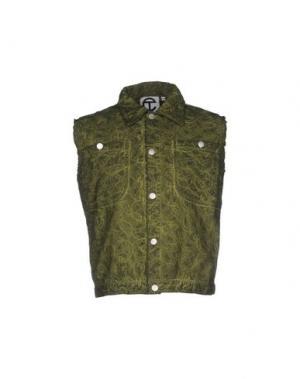 Джинсовая верхняя одежда TELFAR. Цвет: зеленый-милитари
