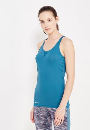 Майка спортивная Roxy. Цвет: голубой