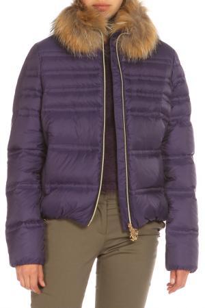 Пуховик с утеплителем и карманами Roberto Cavalli. Цвет: 930, violetto фиолетовый